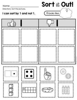 Number Sorts (Numbers 0 - 10)
