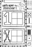Number Sorts Printables in NSW Foundation Font for Kindergarten