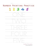 Number Spelling & Printing Practice
