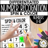 Differentiated Number Recognition Spin Games for Numbers 0-10