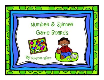 Number & Spinner Game Boards