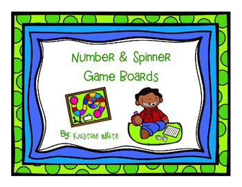Number & Spinner Game Boards