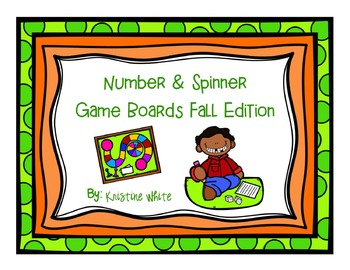 Number & Spinner Game Boards Fall Edition