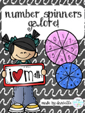 1st & 2nd grade Math Number Spinners Galore! Base Ten Blocks, Money and More!