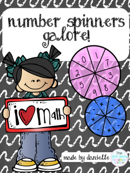 1st & 2nd grade Math Number Spinners Galore! Base Ten Bloc