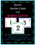 Number Square Labels 1-30 - Brights Edition