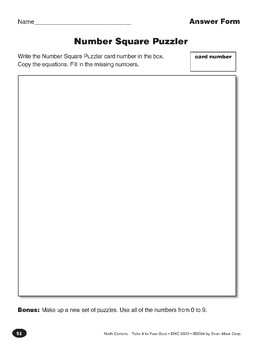 Number Square Puzzler (Computation)