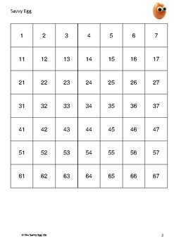 Number Square to 100