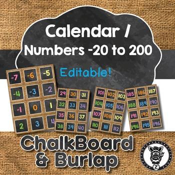 Number Squares / Calendar Days