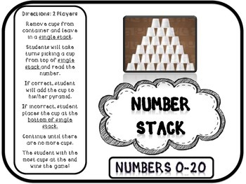Number Stack:Focus Numbers 0-30 (Pyramid Stacking Games)