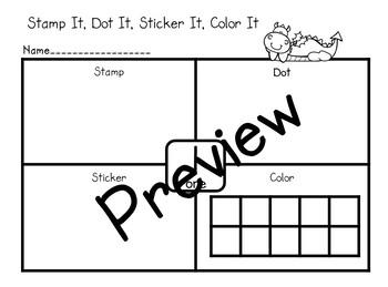 Number Stamp, Dot, Sticker, Color
