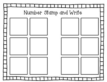 Number Stamp and Write
