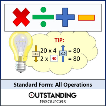 Number: Standard Form/Scientific Notation (+,/,+,-) operations