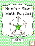Number Star Math Puzzles - Set C