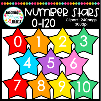 Number Stars Clipart {0-120}