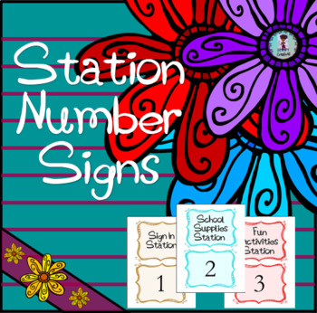 Number Station Signs-Meet the Teacher