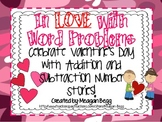 Valentines Day Addition and Subtraction Number Stories