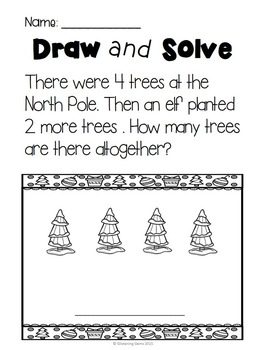 Number Stories - Addition word problems - Winter/Christmas Theme