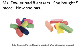 Number Stories: Change-to-More or Change-to-Less