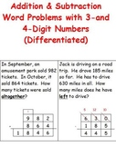 Word Problems-Addition & Subtraction of 3-and 4-Digit Numb