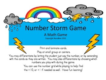 Number Storm Math Game