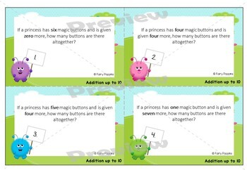 Story Problems - Number Story Mats, Cards and Worksheets