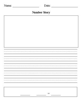 Number Story Math Graphic Organizer