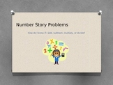 Number Story Problems Key Words