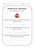 Number Story - Subtraction