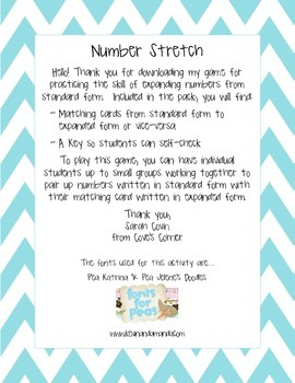 Number Stretch - Expanded to Standard Form of Numbers to the Hundred Thousands