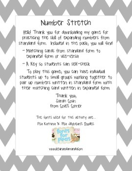 Number Stretch - Expanded to Standard Form of Numbers with Decimals