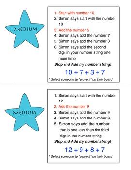Number Strings: Super Simon Strikes Again!