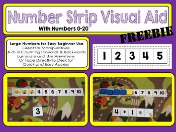 Number Strip Visual Aid Freebie