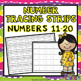 Number Tracing Strips 11-20