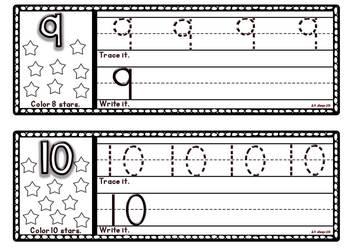 Number Strips Handwriting Set ~Free~