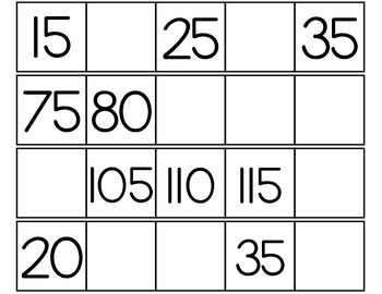 Number Strips - Skip Counting by 10s, 5s, and 2s