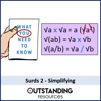 Number: Surds 2 - Simplifying Surds (+ resources)