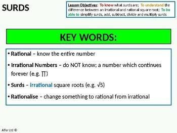 Number: Surds 3 - multiplying surds (+ resources)