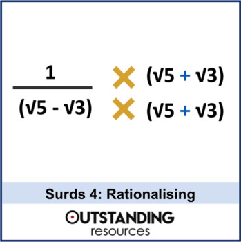 Number: Surds 4 - Rationalising the Denominator + resources