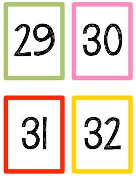 Number & Symbol Flash Cards