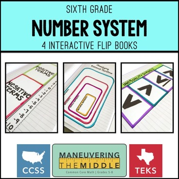 Number System 6th Grade Flip Books Freebie