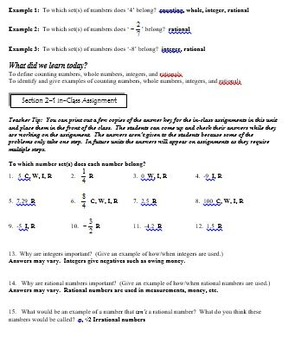 Number System: 7th Grade CCSS Numbers and Operations Unit