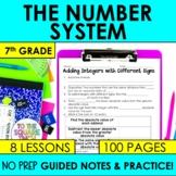 Number System- 7th Grade Math Guided Notes and Activities Bundle