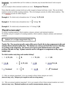 Number System: 8th Grade CCSS Numbers and Operations Unit