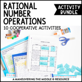 Rational Number Operations Activity Bundle