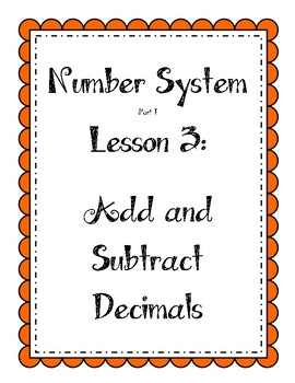 Number System - Add and Subtract Decimals