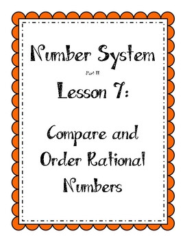 Number System - Compare and Order Rational Numbers