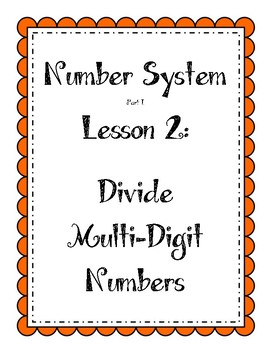 Number System - Divide Multi-Digit Numbers