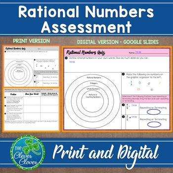 Rational Numbers Assessment - 7.NS.3