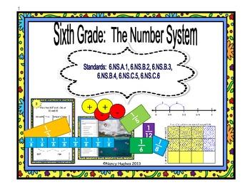Number System:  Fractions, Decimals, GCF & LCM, Integers& Coordinate Plane
